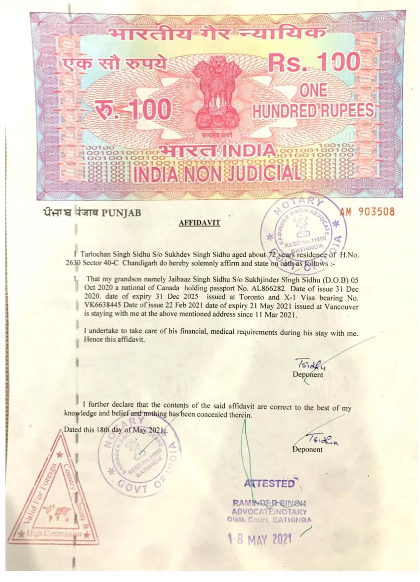 Affidavit Duty Notarized
