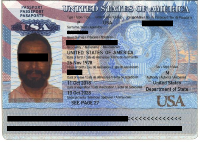 Sample of passport copy